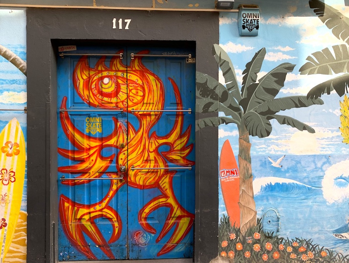 One of the painted doors in Funchal