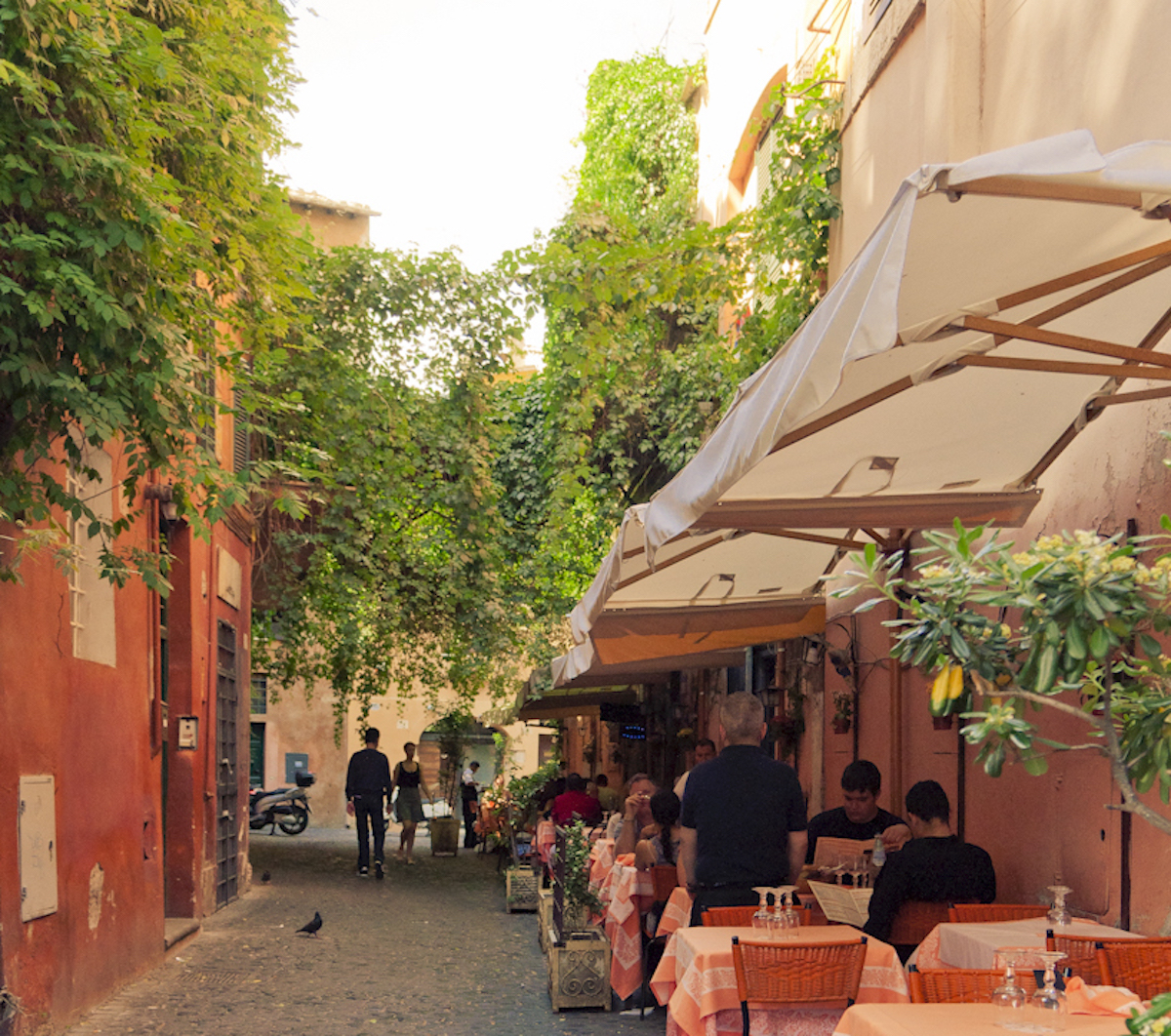 Penny Sadler of Dallas visits Trastevere, Rome