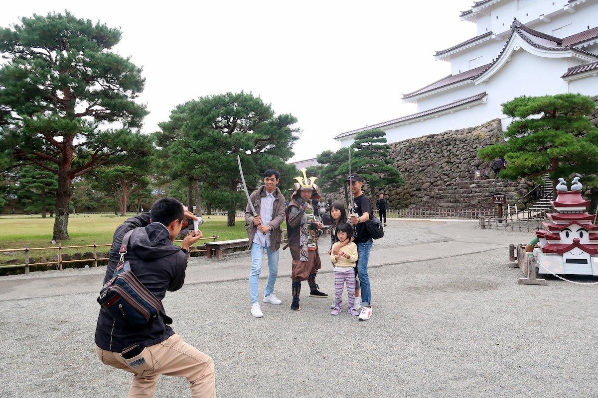 Tsuruga Castle, now restored, was the site of Japan's last samurai battle