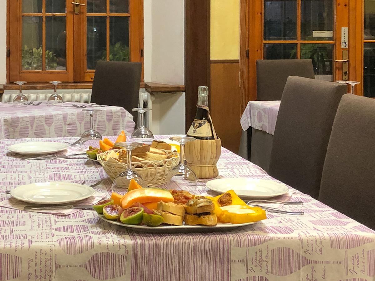 Appetizers at Ristorante Luana Di Cherici in Suviana