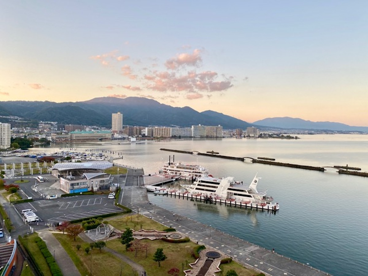 Japan by Train: View from Biwako Hotel