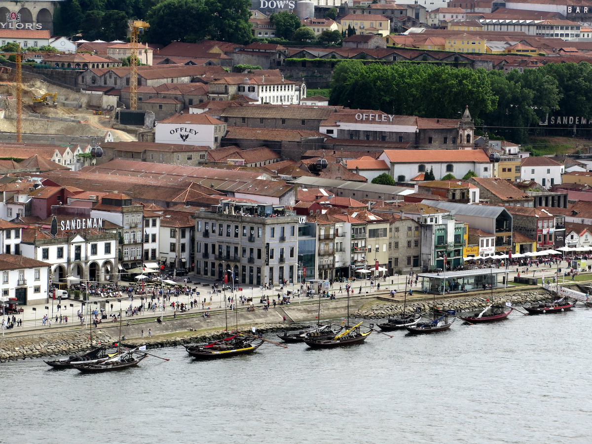 Vila Nova de Gaia, across the Douro River from Porto, is home to port wine lodges and cellars.JPG