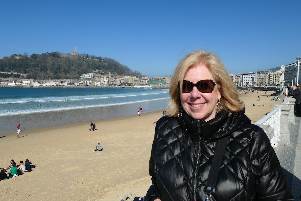 On our recent visit to crescent-shaped La Concha Beach in San Sebastian, Spain