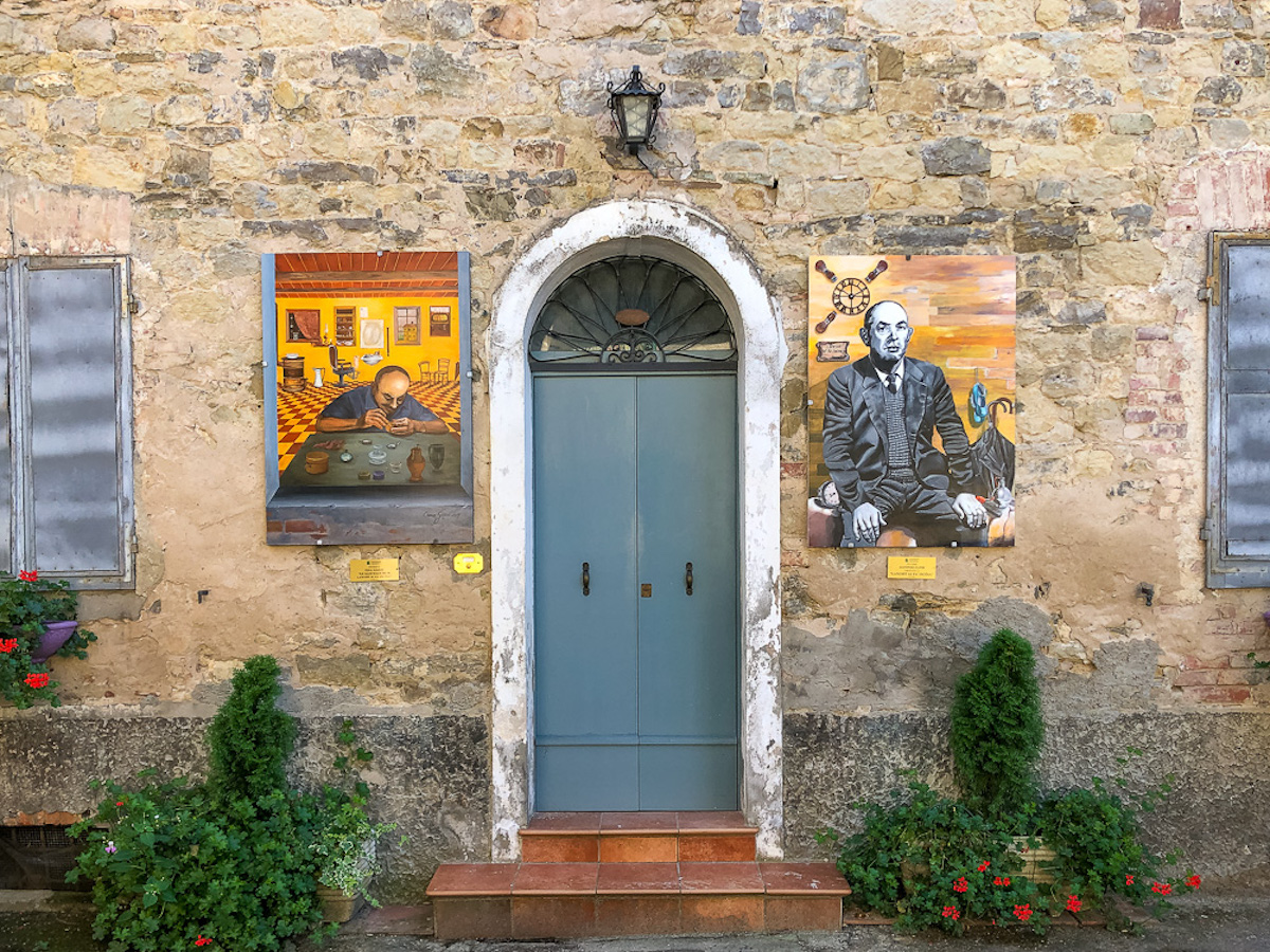 Street art in the town of Tole in the Bologna Apennines