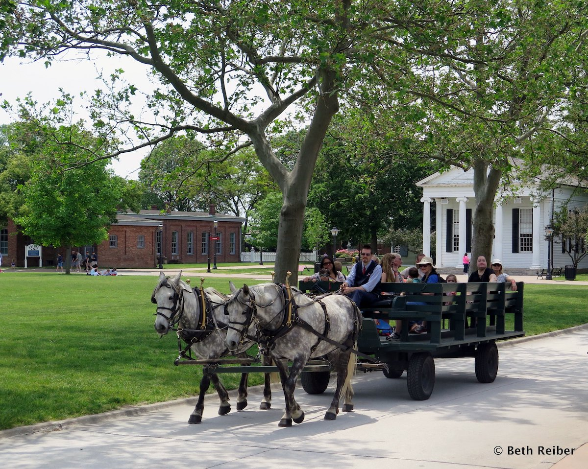 At The Henry Ford - Horse-drawn carriages are a relaxing way to see Greenfield Village or to get from one end to the other