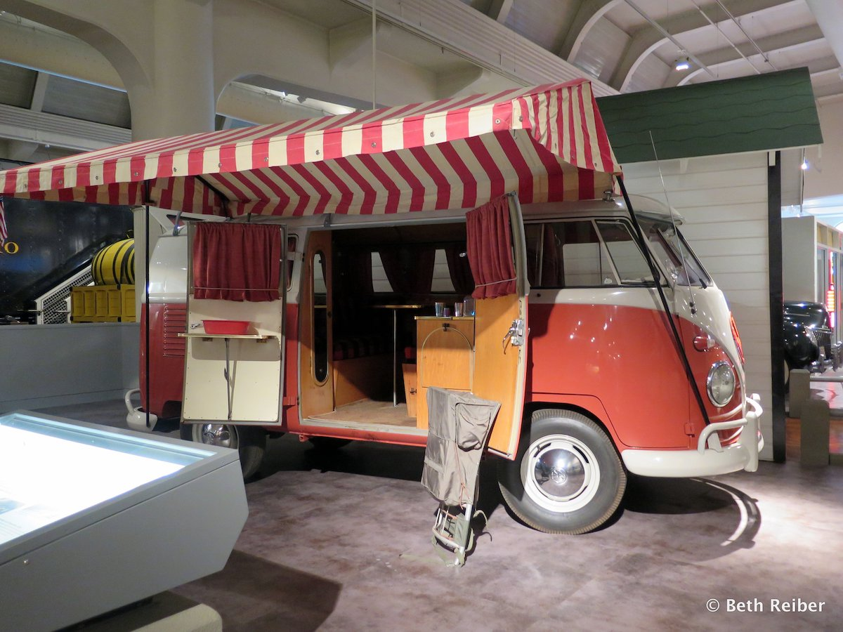 The 1959 Volkswagen Westfalia camper combined living, kitchen and sleeping space in a compact design