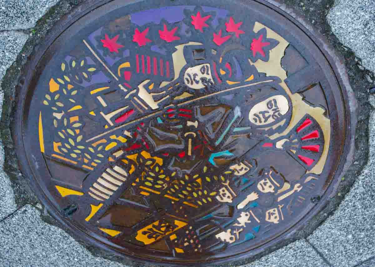 Even the Kakunodate Manhole covers are a work of art