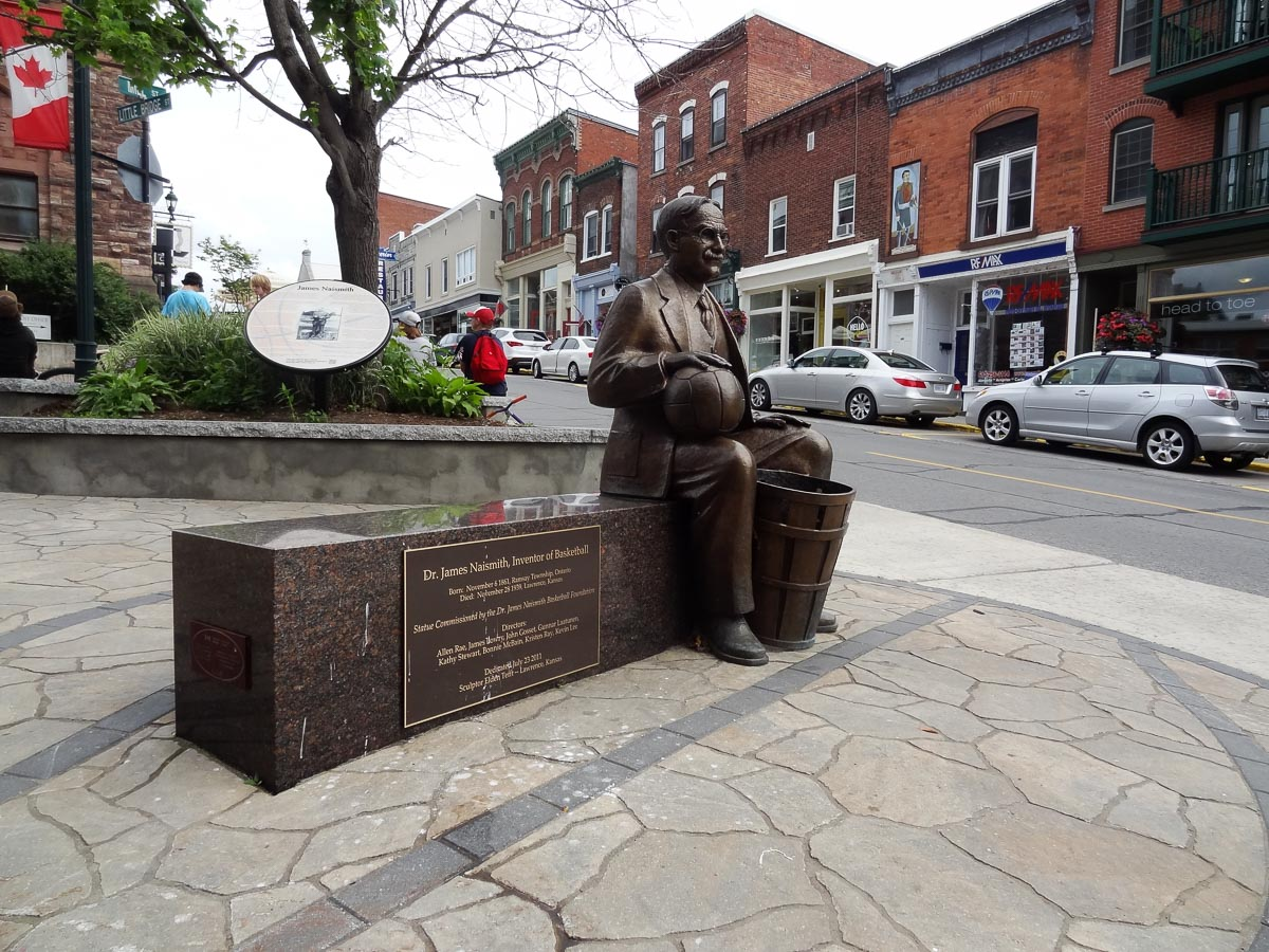 Ottawa Road Trip: Statue of James Naismith the Canadian who invented basketball