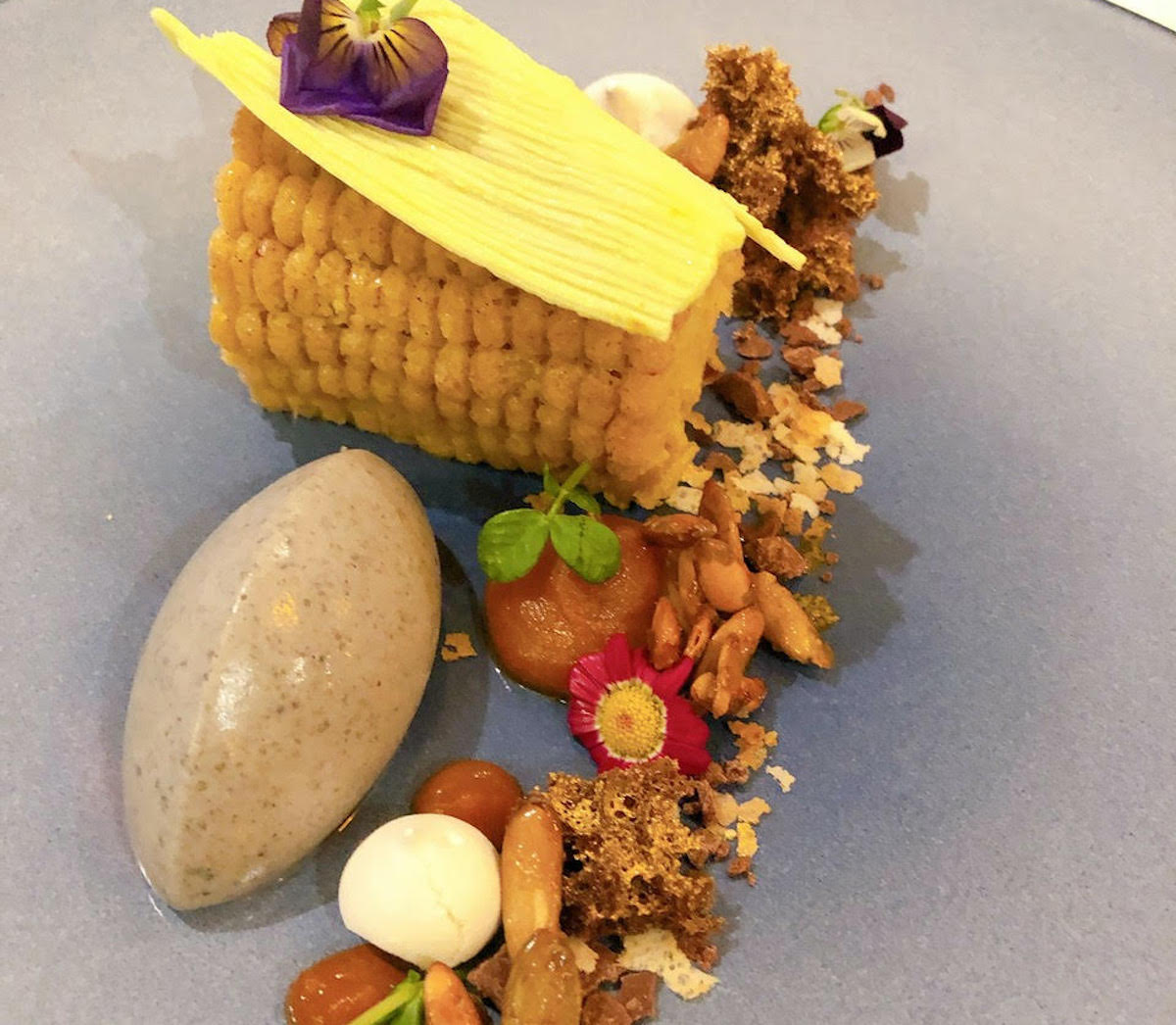 La Milpa (The Cornfield) desert designed by pastry chef Alicia Guzman