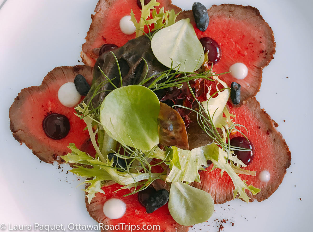 Culinary Travel in Canada Venison Carpaccio