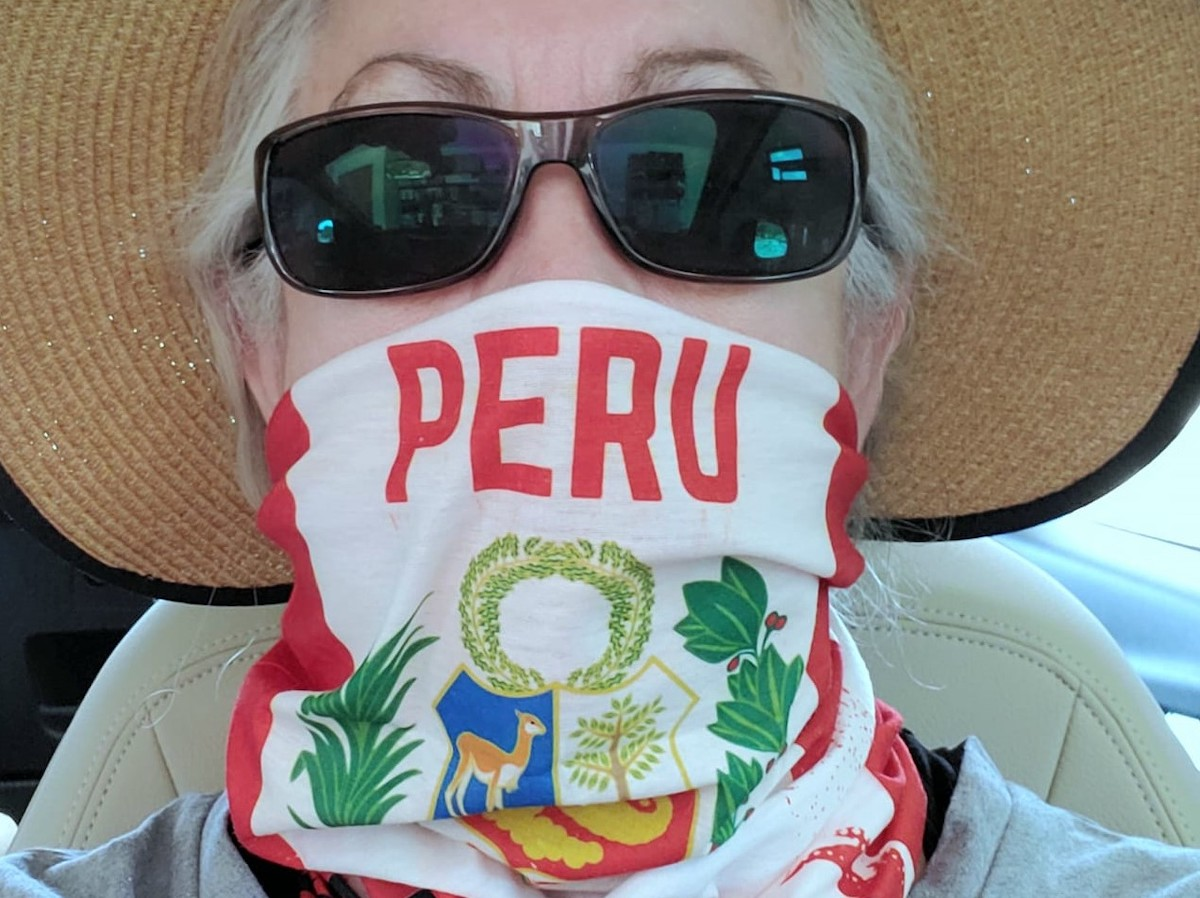 Following my hear: My Peru face covering