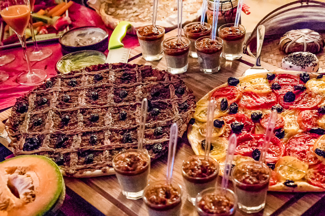 Pissaladiere and other Provençal specialties served in the Luberon