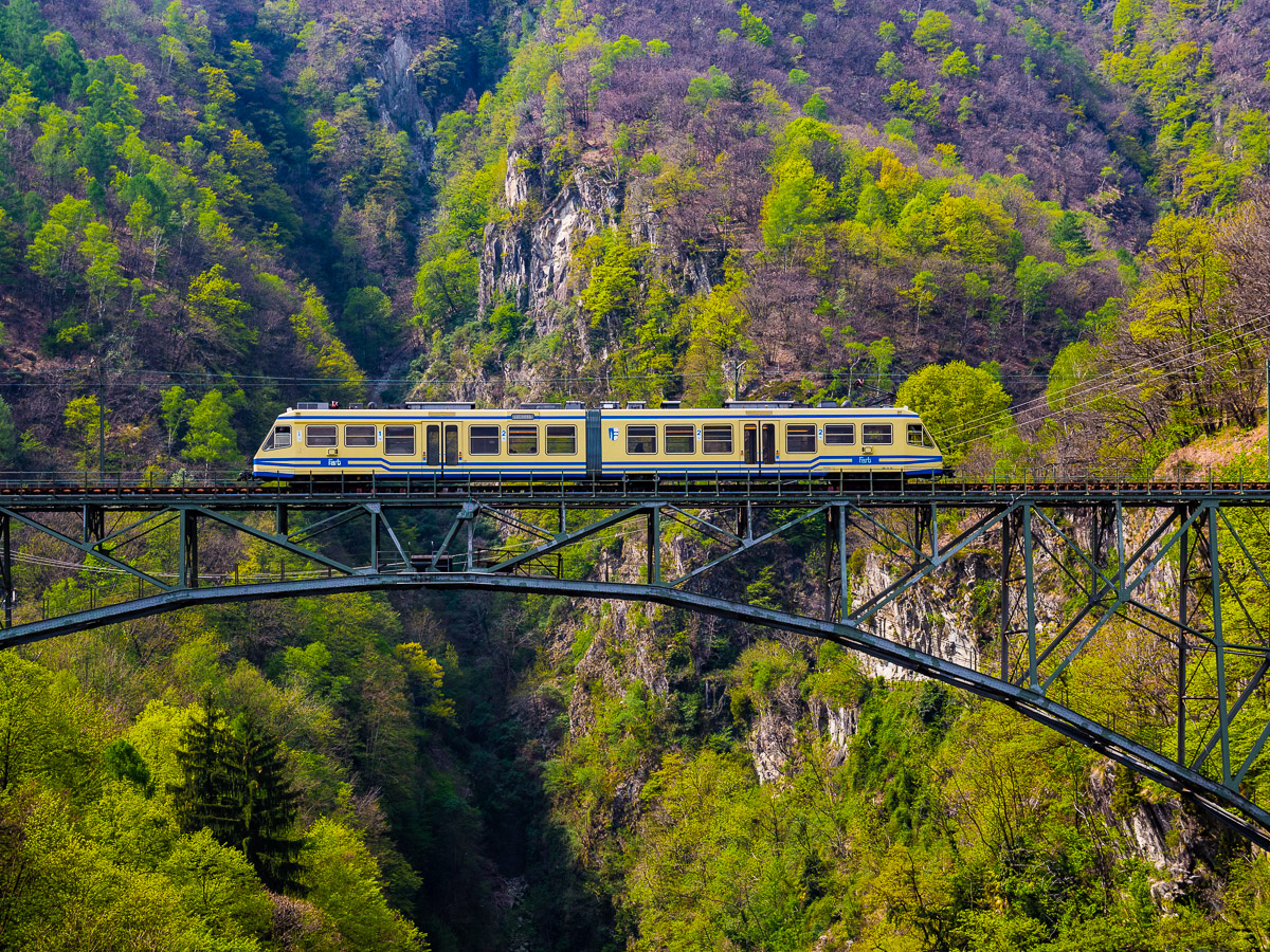 Can't wait to visit: The scenic narrow gauge Centovalli Railway connecting Locarno, Switzerland and Domodossola, Italy