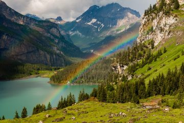 Can't wait to visit Lake Oeschinen, in the Unesco World Heritage Bernese Oberland: a year-round destination