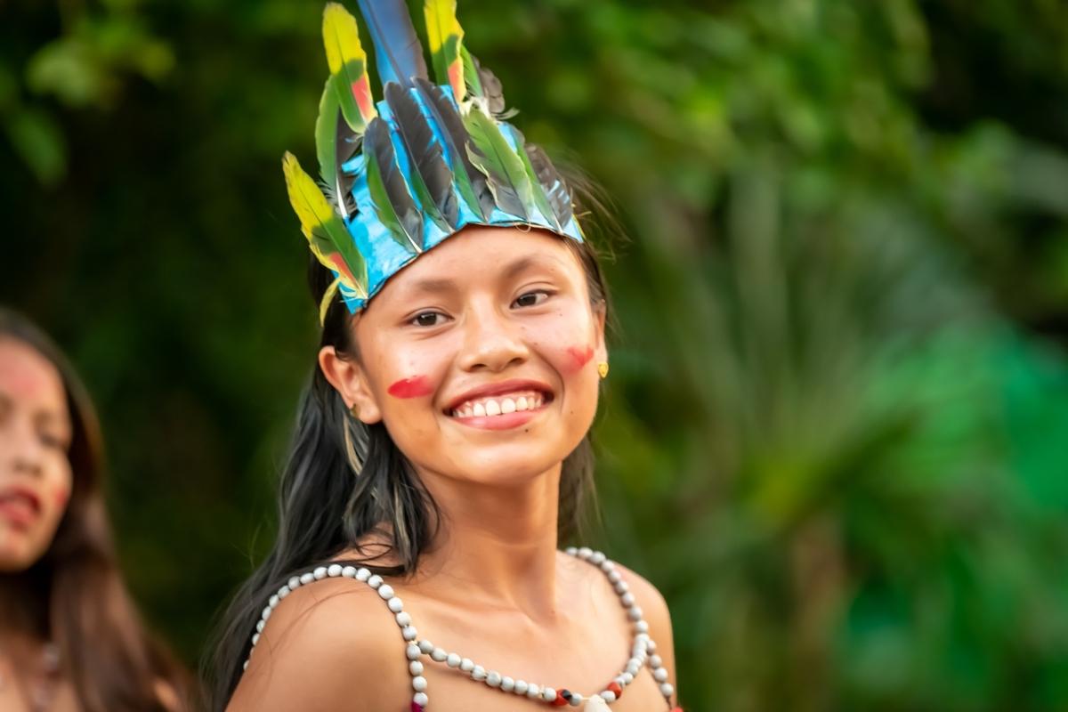 Young riberenos girl in dance garb (credit: KD Leperi)