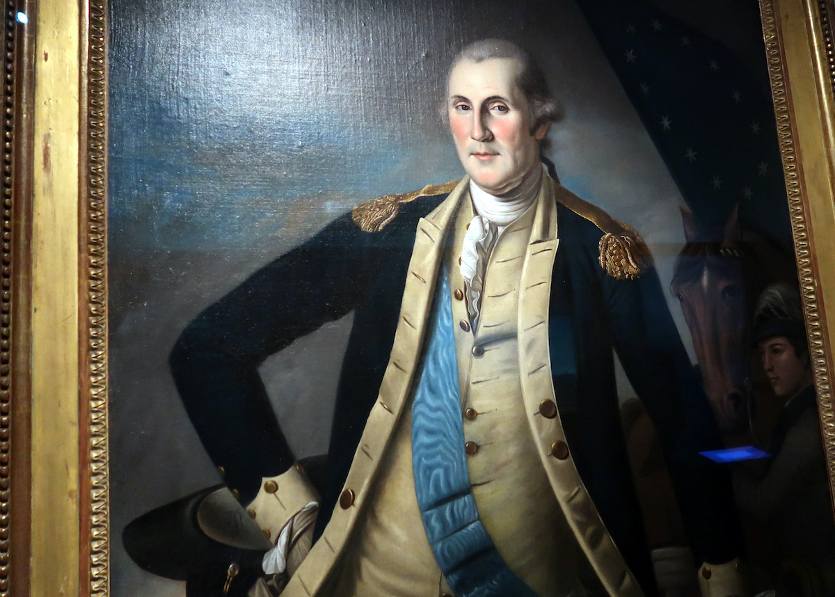 One of some 60 portraits of Washington by Charles Wilson Peale, this one of the general at Yorktown following his greatest victory, now at the National Museum of American History.JPG