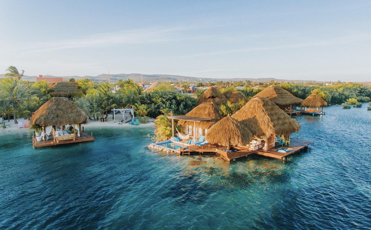 Overwater bungalows are a secret surprise in Savaneta (credit: Aruba Ocean Villas)