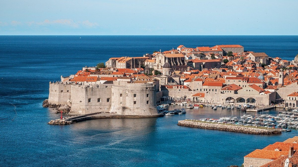 Dubrovnik sits on the Adriatic in southern Croatia