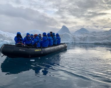 A Zodiac trip in the Ilulissat Icefield