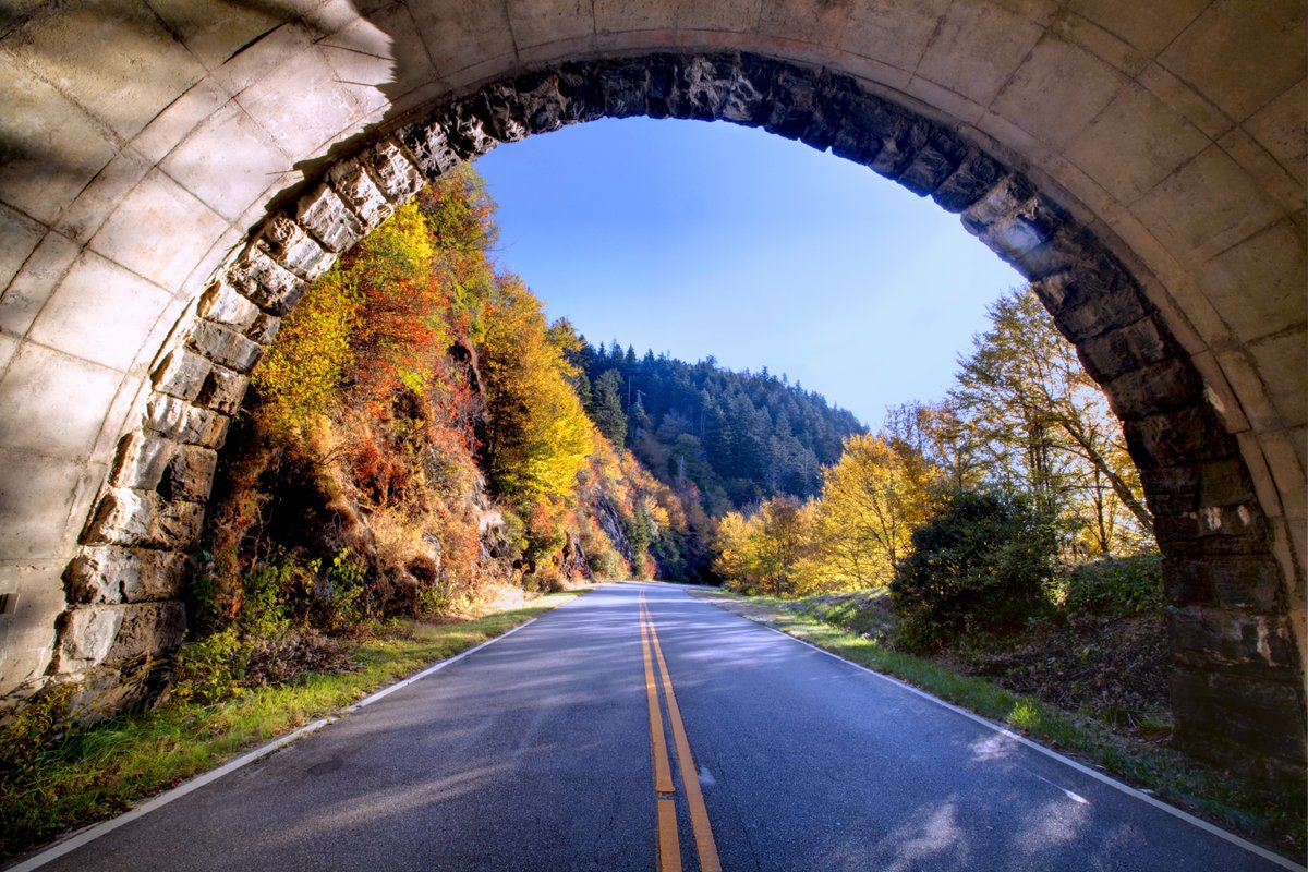 Tunnel along the Blue Ridge Parkway
