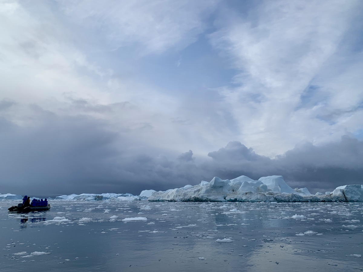 explore Greenland and its coastal icebergs by smaller watercraft