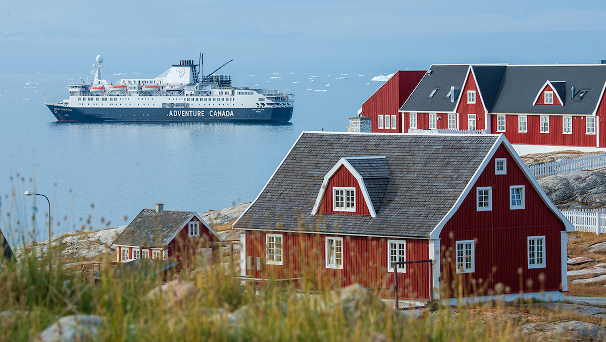 Adventure Canada ship in Greenland