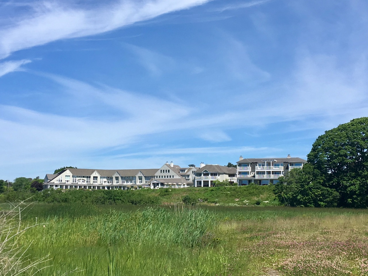 Inn by the Sea as viewed from Crescent Beach