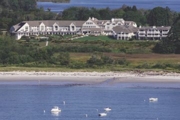 Inn by the Sea aerial shot