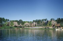 View of Ritz-Carlton Reynolds from Lake Oconee