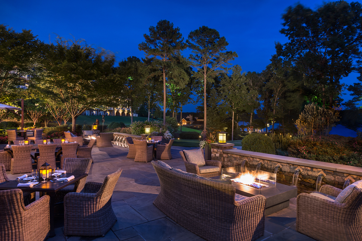 Relax in the evenings outdoors at Georgia's Bistro Terrace (credit: Ritz-Carlton Reynolds Lake Oconee)