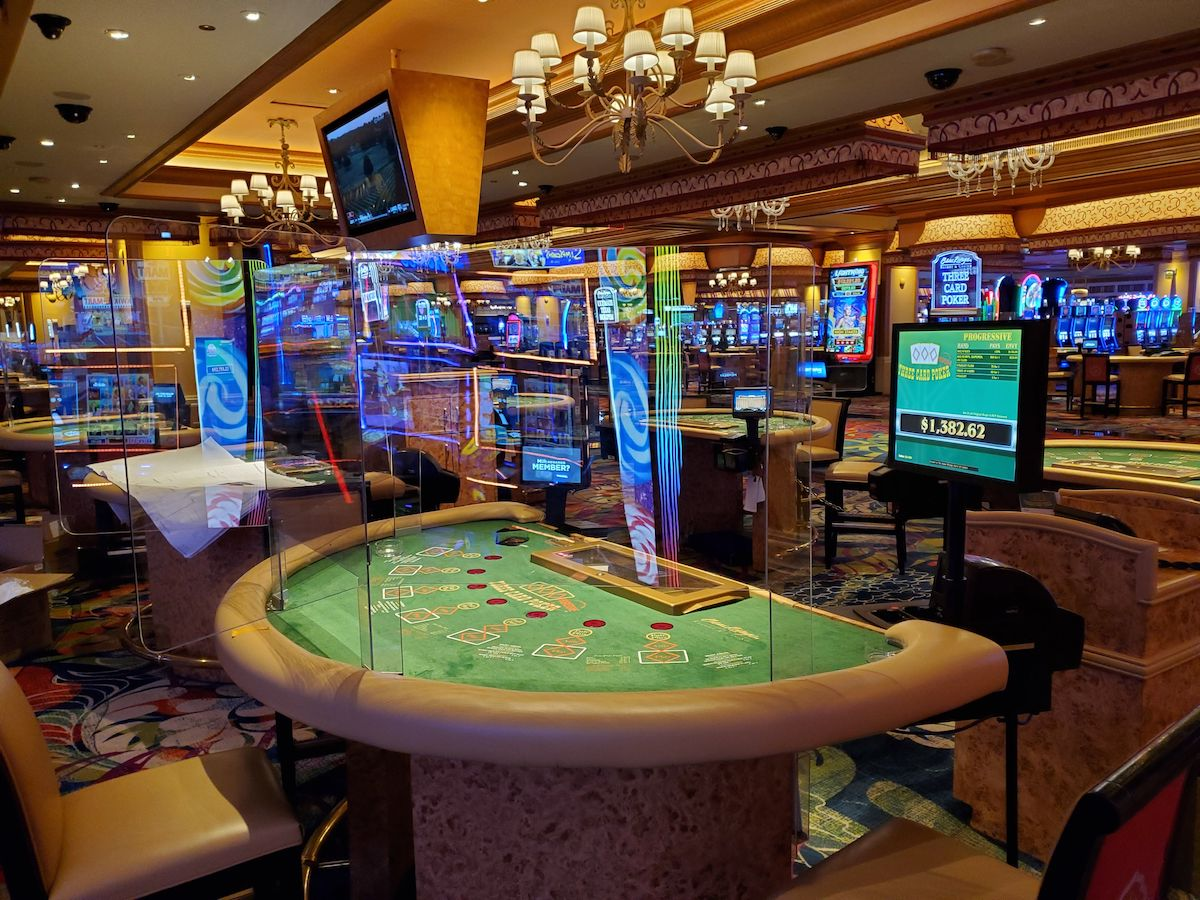 Refitted gaming tables at the Beau Rivage Resort (credit: Beau Rivage)