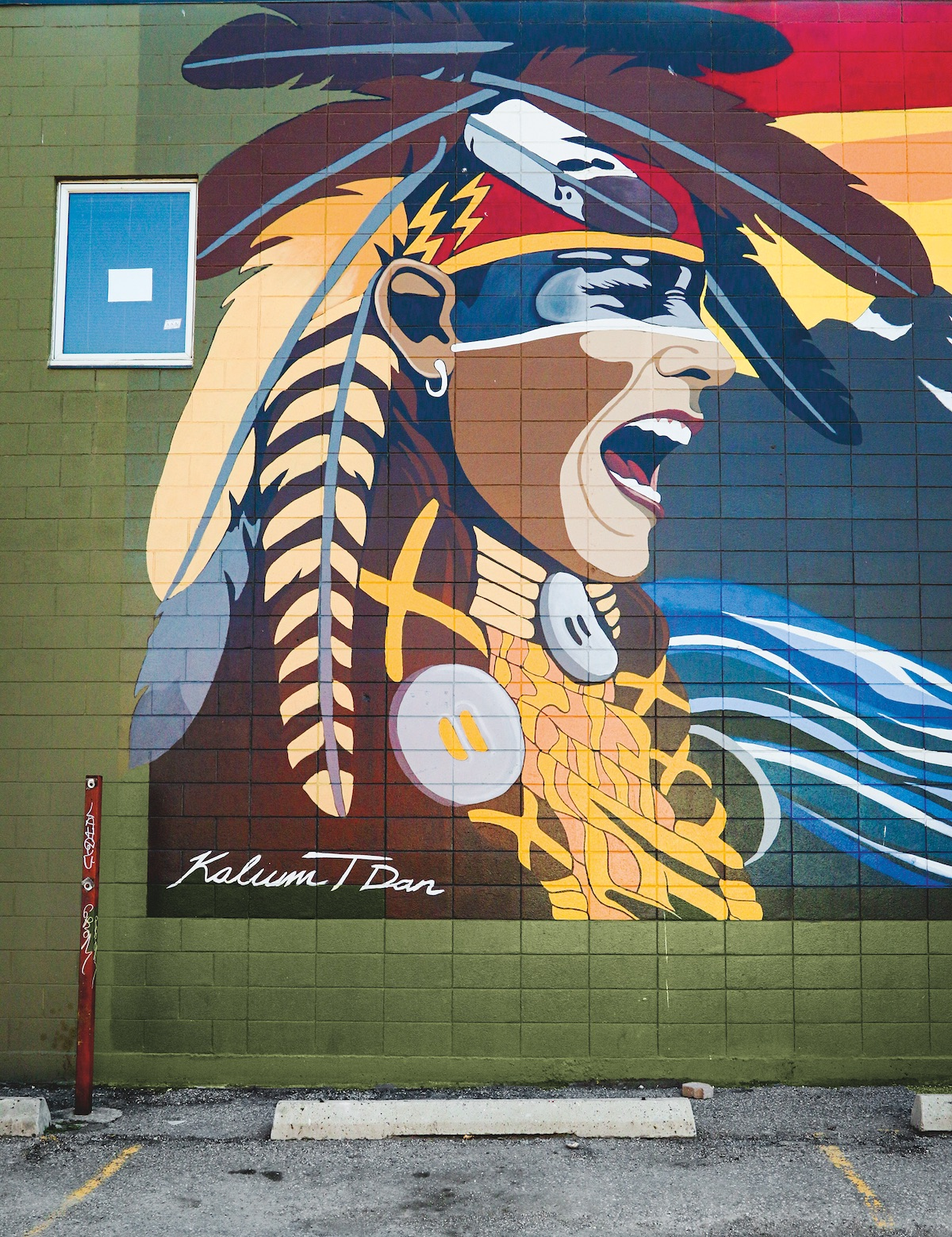 Sunset Songs, by First Nations artist Kalum Teke Dan, is featured in the Beltline Urban Murals Project (BUMP). Photo by Christina Ryan, courtesy Emons Verlag GmbH