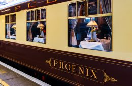 The iconic Belmond British Pullman Train (credit: Rose Palmer)