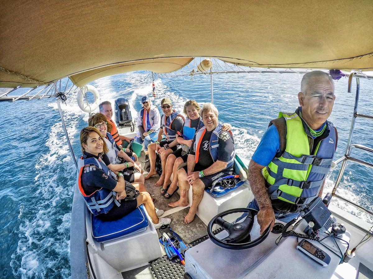Cabo Adventures Captain Jorge Sanchez takes us out on the Sea of Cortez