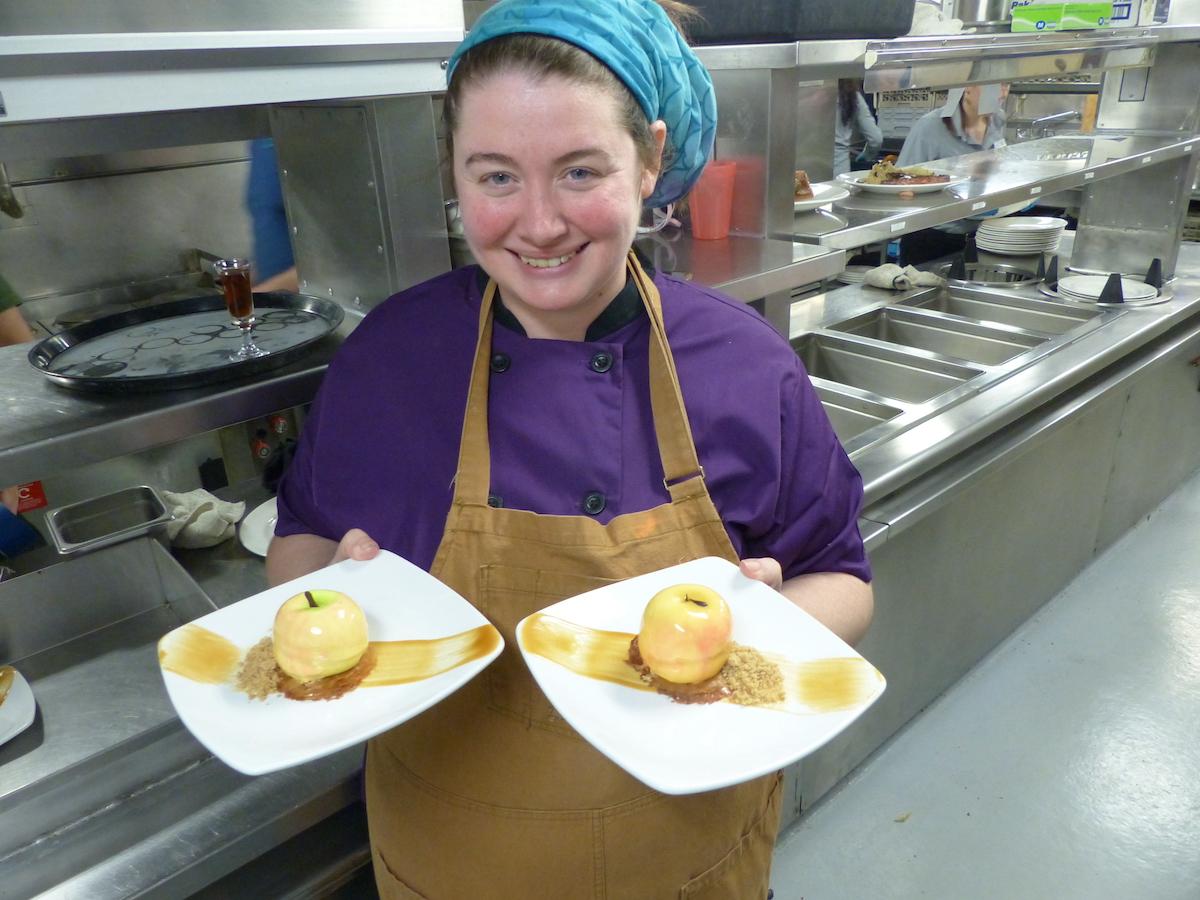 Pastry chef Catriona Kalmanovitch-Windfalll dessert