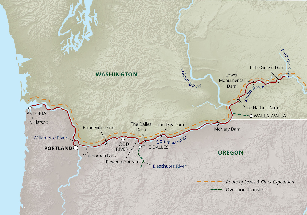 Rivers of Adventure and Wine Cruise Itinerary