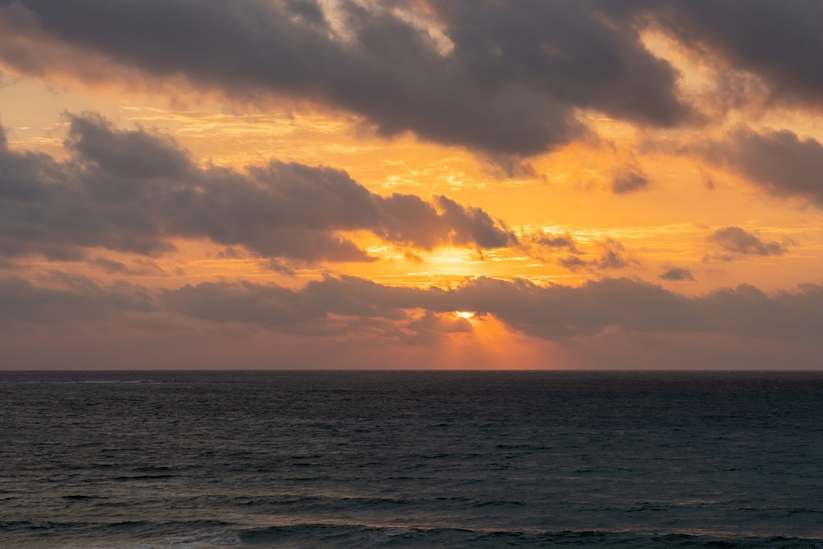 Sunrise on the Caribbean from the balcon
