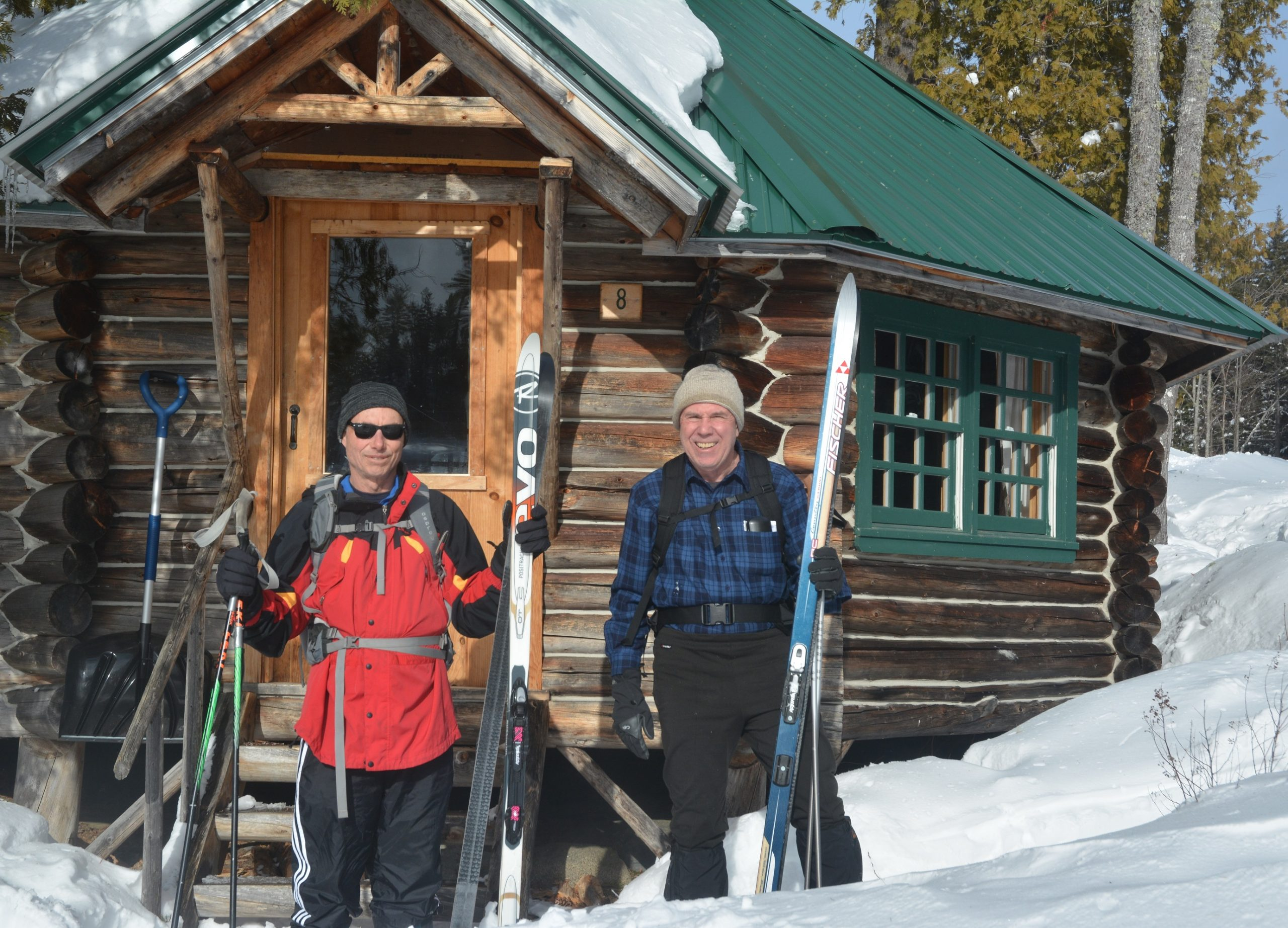 You can book the unique, eight-sided cabin that serves as the Gorman Chairback Lodge's heritage centerpiece on the lake's edge when you take a lodge-to-lodge, cross-country skiing adventure