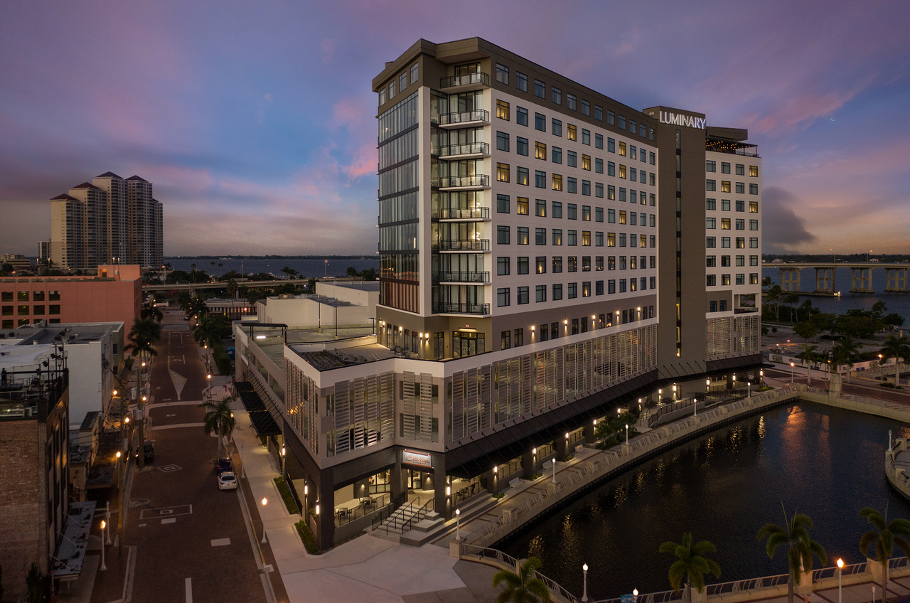 The  downtown, waterfront Luminary Hotel & Co., a Marriott Autograph Collection property, opened overlooking the Caloosahatchee River.