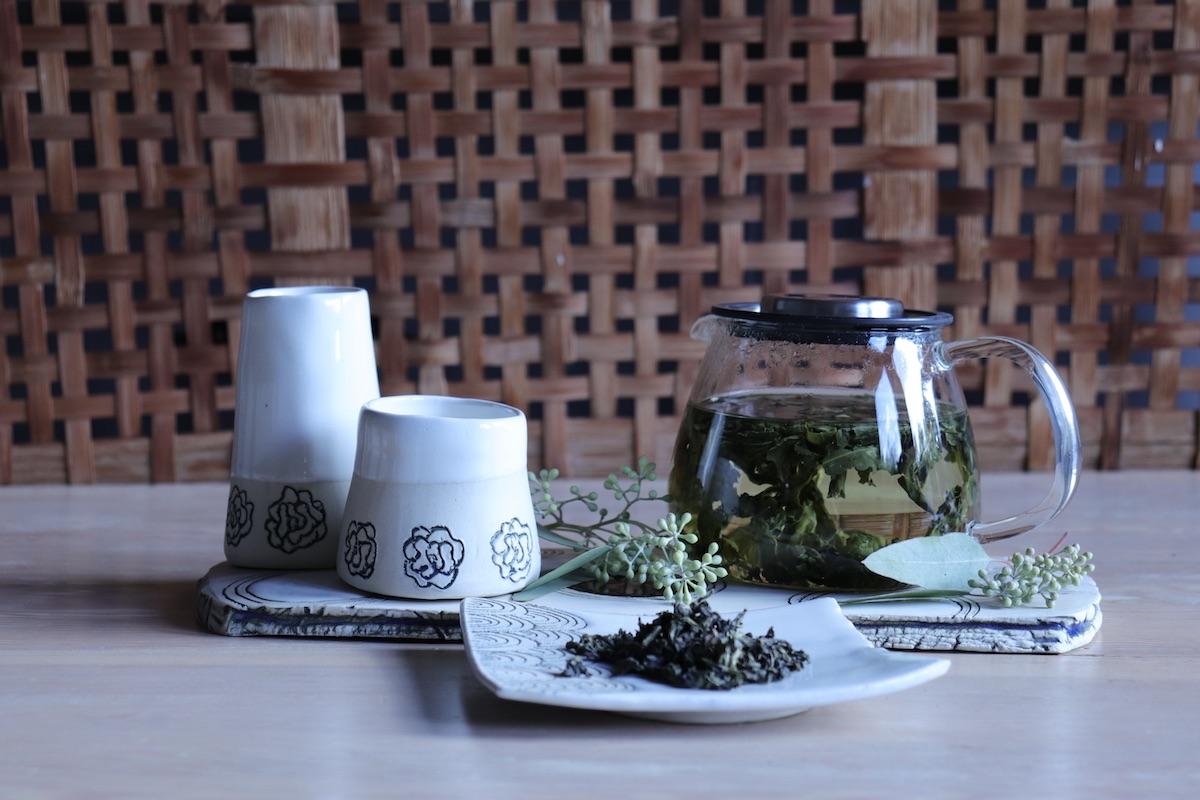 Tea at Westholme Tea Farm with some of Margit Nellemann's teaware