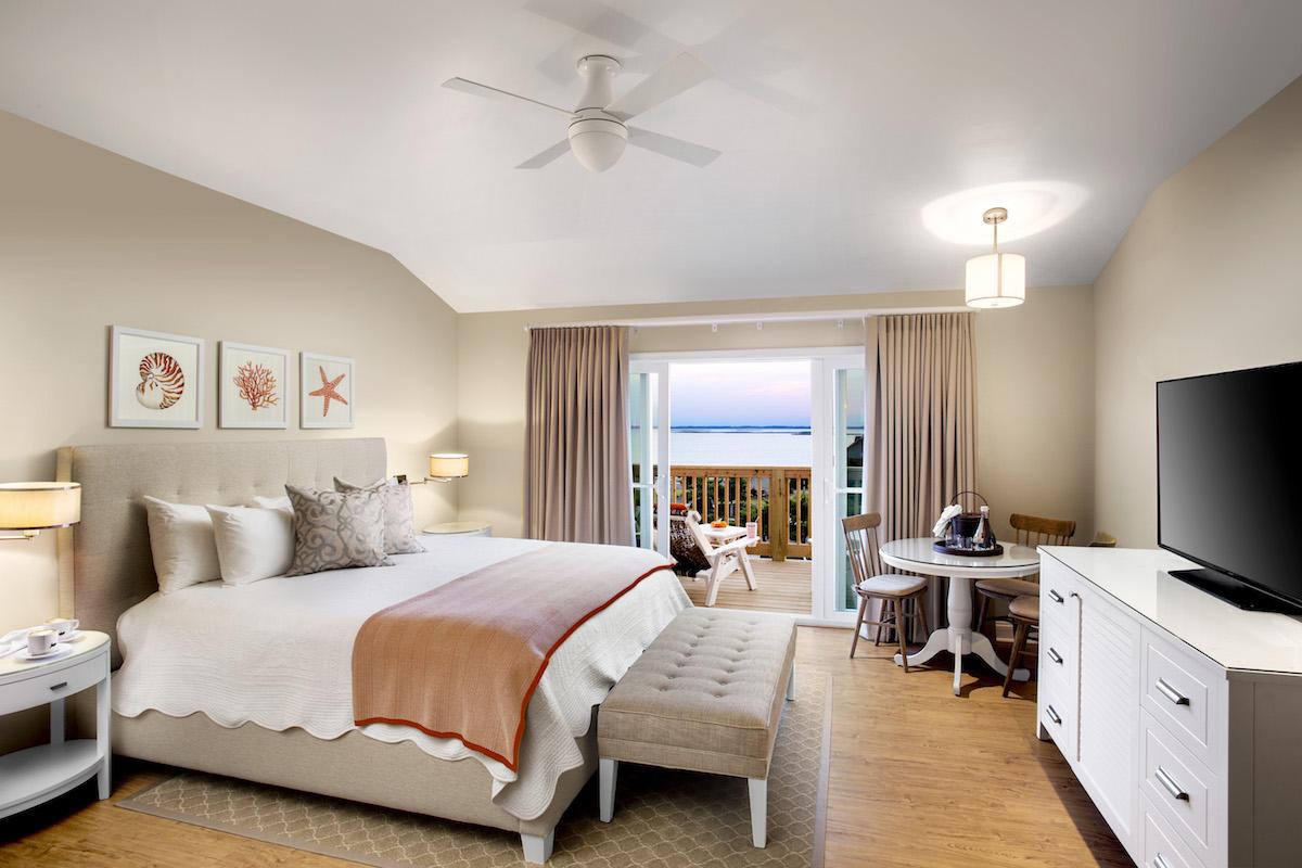Beach House Suite Bedroom at Sanderling Resort PHOTO COURTESY OF SANDERLING RESORT