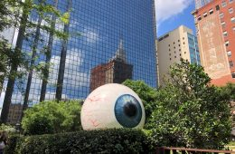 One of the most photographed art attractions in Dallas is the Eyeball