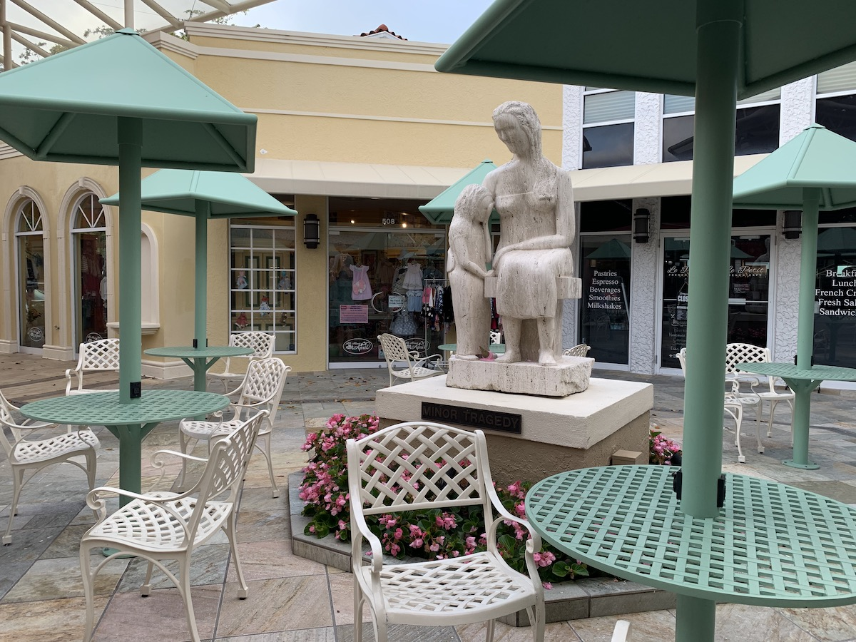 The Village Shops on Venetian Bay is a lovely place to browse and people-watch