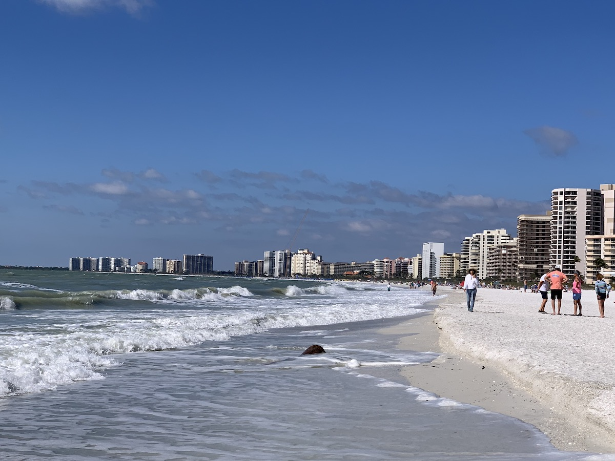 Marco Island's South Beach is a fun place to go shelling