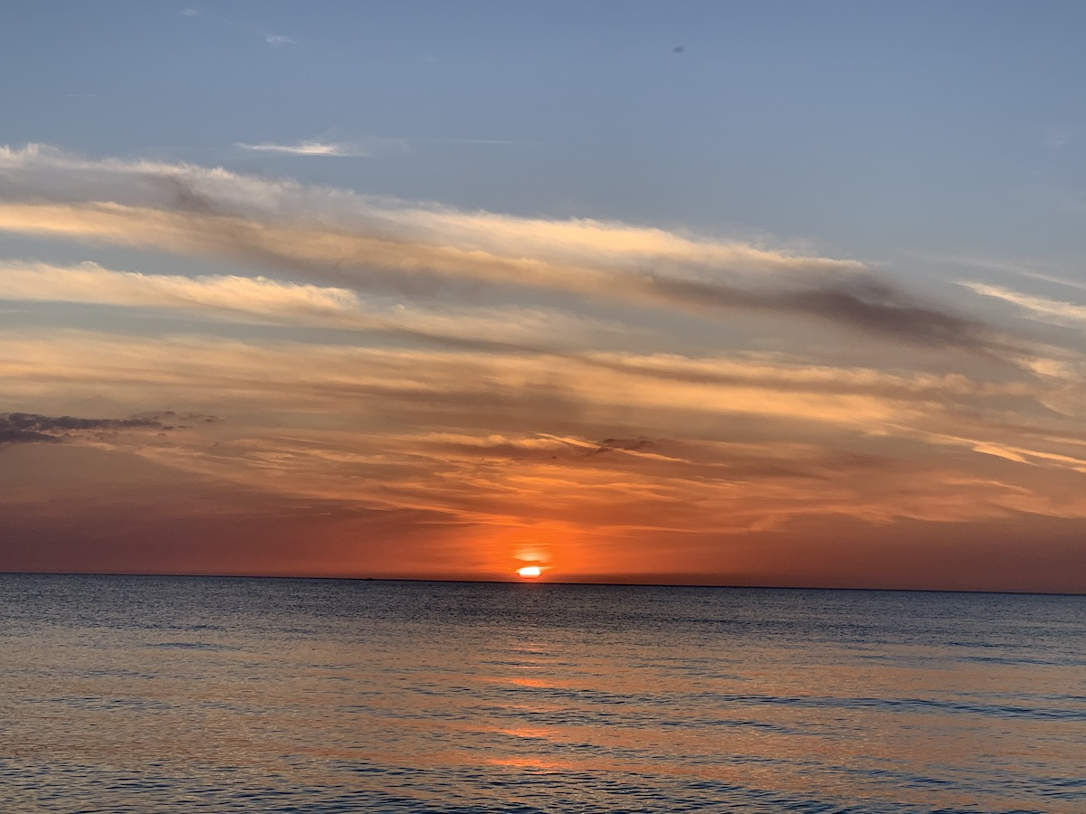 A spectacular sunset at Delnor-Wiggins State Beach Park