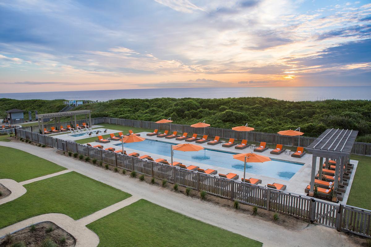 One of two pools at Sanderling Resort