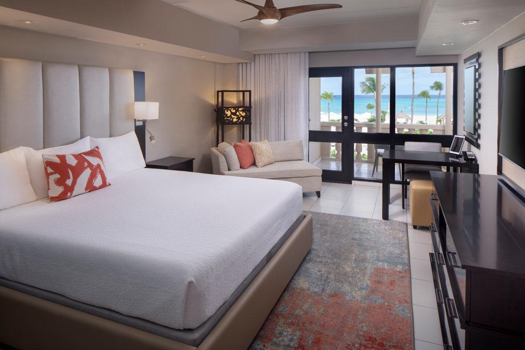 Deluxe room at Bucuti and Tara Beach Resort, Aruba