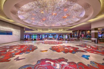 Blossom chandelier welcomes visitors to Grand Sierra Resort in Reno