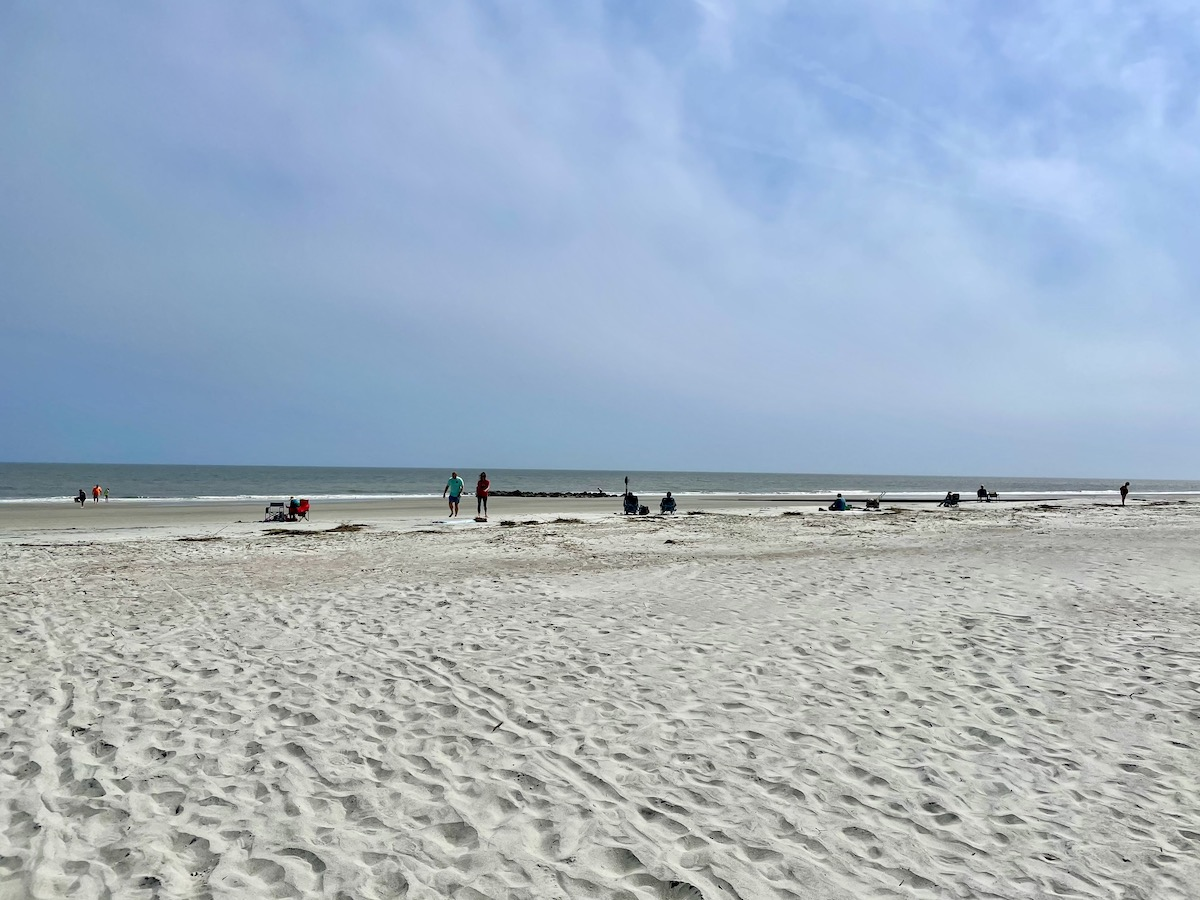 Sunny days, soft white sand, and quiet beaches at Hunting Island State Park (credit: Gwen Pratesi)