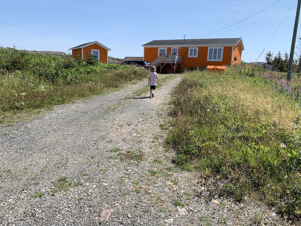 The author's house and shed in Joe Batt's Arm